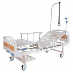 Е-8 (MM-20Н) Кровать механическая (2 функции) с полкой и столиком